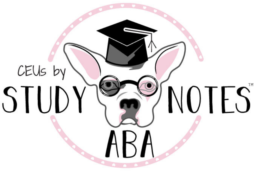 logo for CEUS by Study Notes ABA a BACB Authorized Continuing Education Provider
