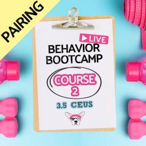 Behavior Bootcamp CEUs CEs 3.5 credits course 2 pairing