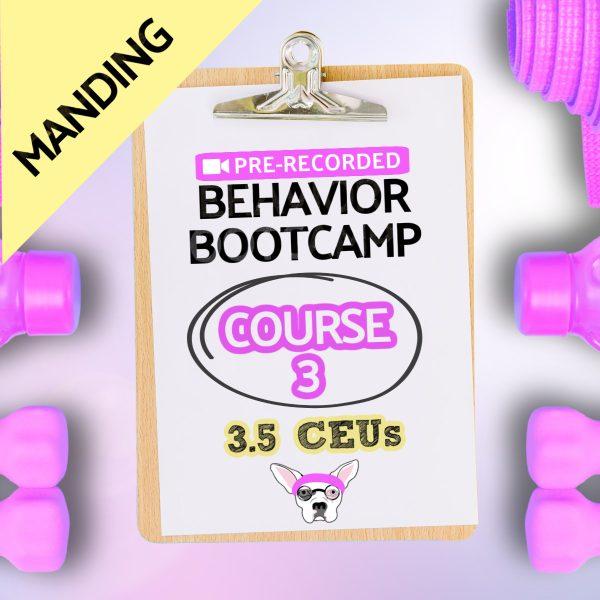 Course 3 Pre-recorded