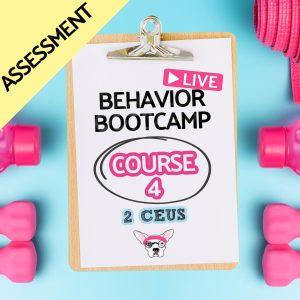 BCBA CEUS CEs Course 4 Assessment