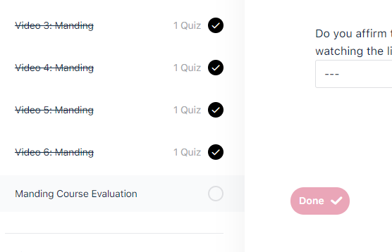 Recorded Course Evaluation 2
