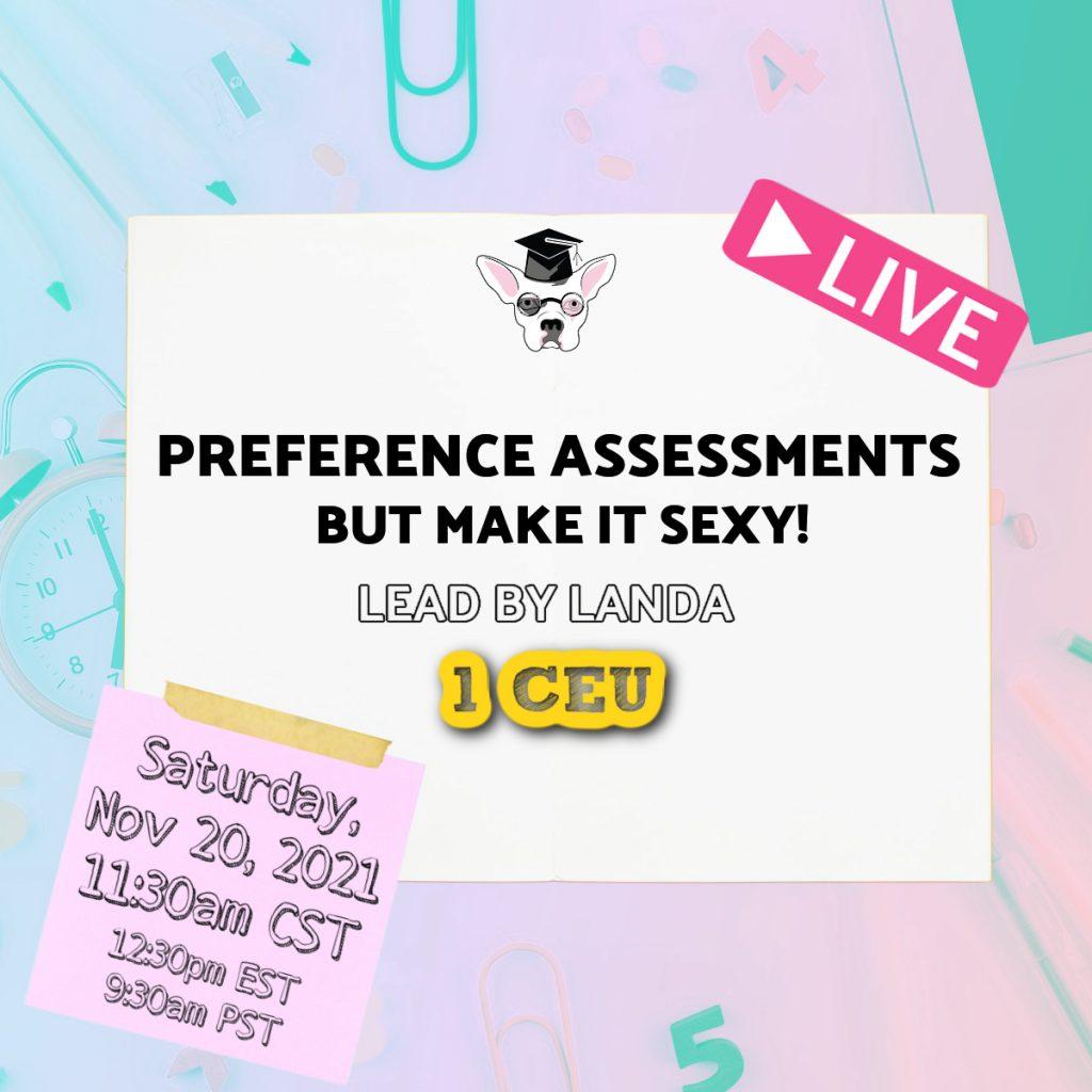 CEU Preference Assessments